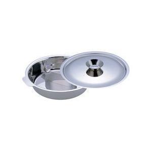 UKチリ鍋 2仕切・蓋付 33cm 18-0・電磁対応 QTL5702|n-kitchen