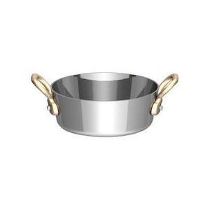 UK18-8プチテーパーパン両手浅型鍋 蓋無 9cm PPT8802|n-kitchen