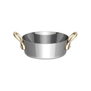 UK18-8プチテーパーパン両手浅型鍋 蓋無 10cm PPT8803|n-kitchen