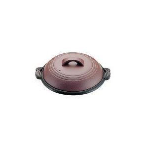 アルミ陶板鍋素焼き茶 大関 30cm M10-542 QTU18542|n-kitchen