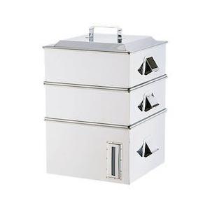 SA電磁専用業務用角蒸器 2段 33cm AMSA0033|n-kitchen