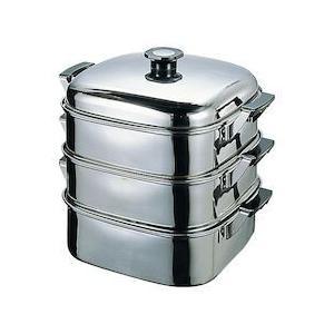 T 18-8角型蒸器 24CM3段 AMS68243|n-kitchen