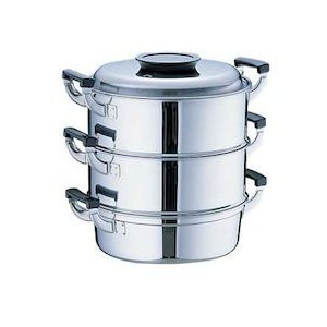 桃印18-0丸型蒸器 29CM3段 AMS72293|n-kitchen