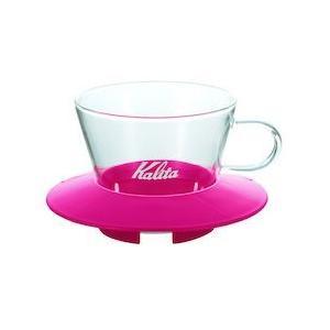カリタ ガラスドリッパー 155チェリーピンク FDL8203|n-kitchen
