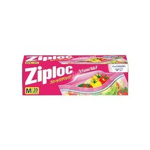 旭化成 ジップロック ストックバッグ Wジッパータブ付M(20枚入)|n-kitchen