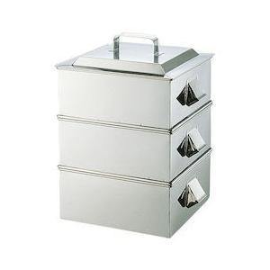 SA21-0業務用角蒸器 2段 33CM AMS65033|n-kitchen