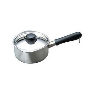 柳宗理 18-8ミルクパン(蓋付) 16cm(ミラー)31226|n-kitchen