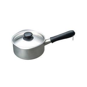 柳宗理 18-8ミルクパン(蓋付) 16cm(つや消し)31227|n-kitchen