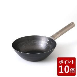 鉄打出しフライパン TARO 21cm IH不可 14606940 山田工業所 フジイ 中華フライパン|n-kitchen