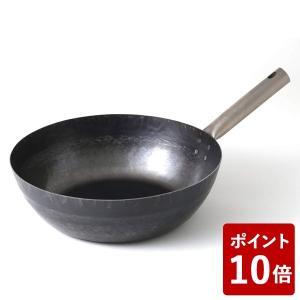 鉄打出しフライパン TARO 30cm IH不可 14606943 山田工業所 フジイ 中華フライパン|n-kitchen