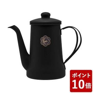 在庫限り 月兎印 ステンレススリムポット 0.7L ブラック 13107571 フジイ 野田琺瑯 黒|n-kitchen