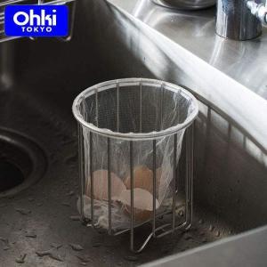 大木製作所 シンクバスケット 三角コーナー代わりに ステンレス 日本製 Outline 08 Ohki アウトラインシリーズ 41202028|n-kitchen