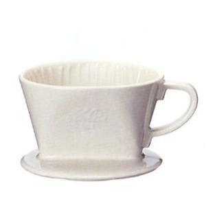 カリタ 陶器製 コーヒードリッパー #101ロト ホワイト|n-kitchen
