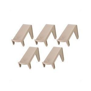 伊勢藤 省スペース靴収納 スリムタイプ ブラウン 5コ組|n-kitchen