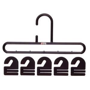 シンコハンガー F−FIT ネクタイハンガー ブラック|n-kitchen