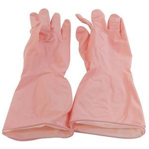 ふんわりやわらか天然ゴム手袋 M ピンク オカモト|n-kitchen