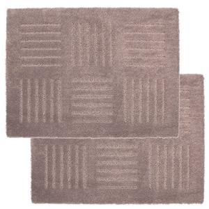 ピタプラス ブリック ジョイントキッチンマット45×60cm ブラウン(2枚組) オカ n-kitchen