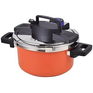 パール金属 圧力鍋 4.2L IH対応 内面ふっ素加工 ワンタッチレバー切り替え式 NEWアルミ HB-3296|n-kitchen