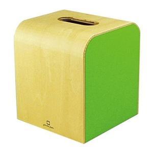 木製 ティッシュボックスケース COLOR MINI ライトグリーン ヤマト工芸 yamato japan|n-kitchen