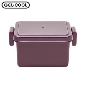 GEL-COOL ランチボックス スクエア S オニオンパープル 220ml 三好製作所 n-kitchen