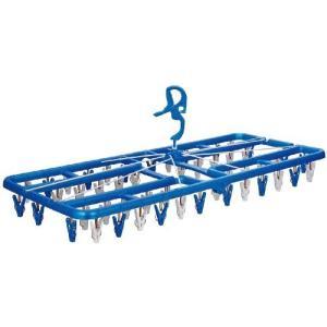 角型ハンガー プラ50プレミアム ピンチ50個付 ブルー ニシダ|n-kitchen