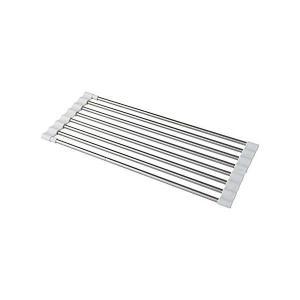 レック 抗菌 たためる シンク 水切り スライドラック 伸縮タイプ 幅40〜60cm KK00101|n-kitchen