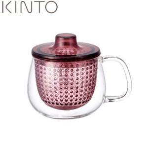 KINTO UNIMUG 茶こし付 350ml ワインレッド 22914 キントー ユニマグ|n-kitchen