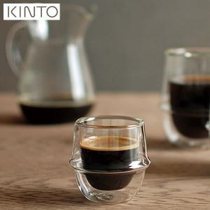 KINTO KRONOS ダブルウォール エスプレッソカップ 80ml 23104 キントー クロノス|n-kitchen