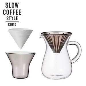 KINTO SLOW COFFEE STYLE コーヒーカラフェセット プラスチック 300ml 27643 キントー スローコーヒースタイル|n-kitchen