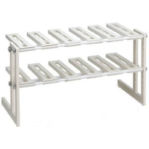伸晃 シンク下フリーラック2段 伸縮タイプ MT2−EX|n-kitchen