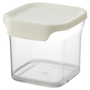 リス 保存容器 リベラリスタ キャニスター レギュラー ホワイト|n-kitchen