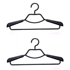形態安定シャツ用ハンガー 2本組 ブラック シンコハンガー|n-kitchen