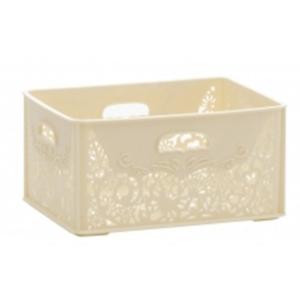 収納ボックスフォレット プチ クリームホワイト シービージャパン|n-kitchen