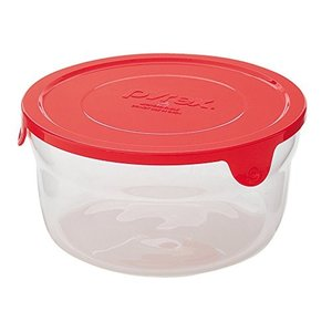 PYREX(パイレックス) サーブ&レンジ 650ml 丸 レッド CP-8606|n-kitchen