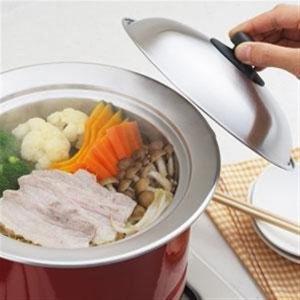 お鍋にのせて簡単蒸しプレート ドーム型 20~22cm対応 蒸し器 ステンレス 日本製 YJ2302...