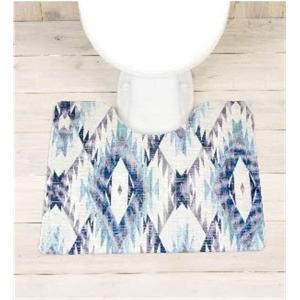 さらっと拭ける撥水PVCトイレマット ブルー系アメリカンネイティブ柄 約55×60cm ビニール製 抗菌防臭 防カビ 防炎 ヨコズナクリエーション(Yokozuna)|n-kitchen