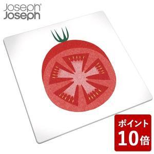 ジョセフジョセフ マルチガラスボード スクエア レッドトマト 90094 JosephJoseph n-kitchen