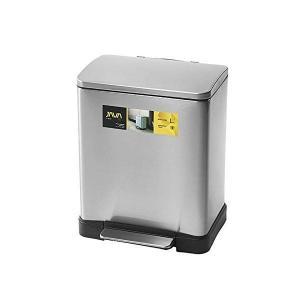 JAVA Lase ペダルビン ステンレス ゴミ箱 消臭剤ポケット付 20L メタリックシルバー OPUS n-kitchen