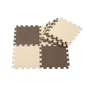 ジョイントマットシリーズ カラーマット 8枚組 チョコレート CBジャパン|n-kitchen