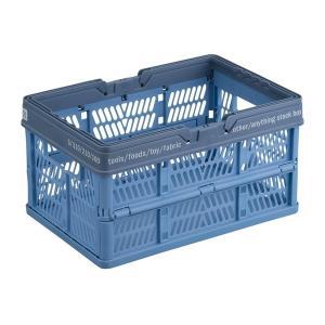 プロフィックス 折りたたみバスケット S ブルー (折りたたみコンテナ 折り畳み かご) 天馬|n-kitchen