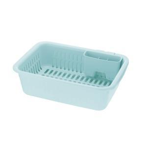 リッチェル シェリー 水切りセット ミントブルー L (水切り かご)|n-kitchen