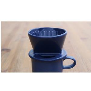 かもしか道具店 コーヒードリッパー (マグ別売) 青 山口陶器|n-kitchen