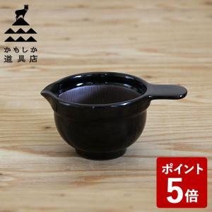 かもしか道具店 なっとうバチ こぶり 黒 山口陶器|n-kitchen