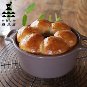 かもしか道具店 パン焼き器 茶(電子レンジ、オーブン、直火OK) 山口陶器 ブラウン 和 ていねいなくらし|n-kitchen
