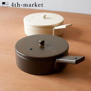 4th-market ポワレ フライパン 茶 poile ブラウン (L-2) IH不可 フォースマーケット 萬古焼 和 おうち時間 ていねいなくらし|n-kitchen