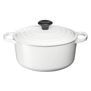 ル クルーゼ シグニチャー ココット・ロンド 16cm ホワイト 25177-16-01|n-kitchen