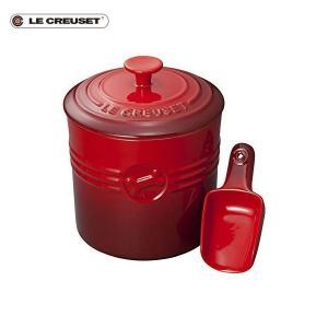 ル・クルーゼ ペットフード・コンテナー スクープ付き チェリーレッド|n-kitchen