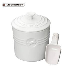ル・クルーゼ ペットフード・コンテナー スクープ付き ホワイト|n-kitchen