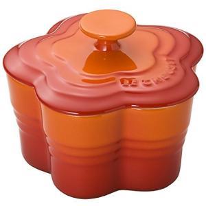 ル クルーゼ ラムカン・フルール S・フタ付き オレンジ 910167-00-09|n-kitchen