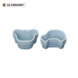 ル・クルーゼ ベビー・ツイン・ラムカン ベアー&クルマ コースタルブルー|n-kitchen